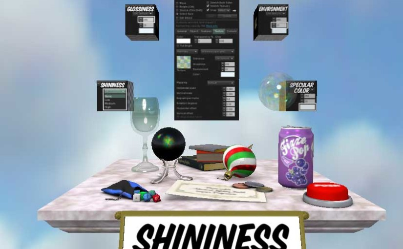 Shininess Station at the revised Texture Tutorial