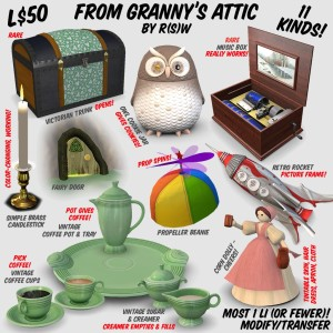 From Granny's Attic - by R(S)W - 11 things, L$50