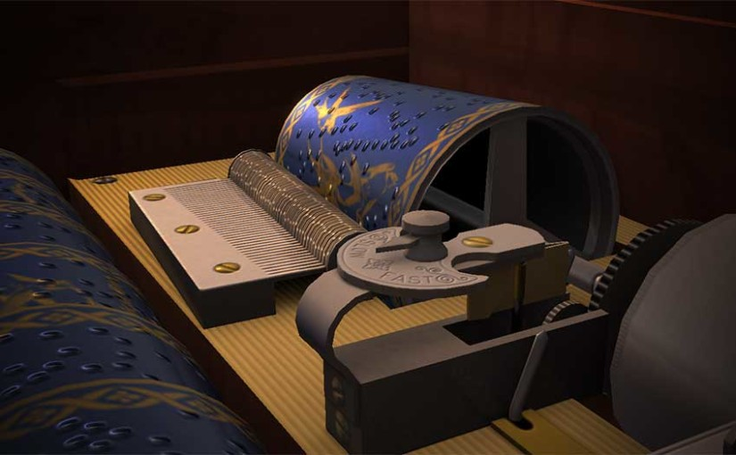 Detail of the inside of the R(S)W Music Box from The Arcade in SL