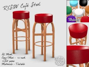 Café Stool for Second Life