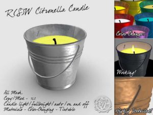 Citronella Candle for Second Life