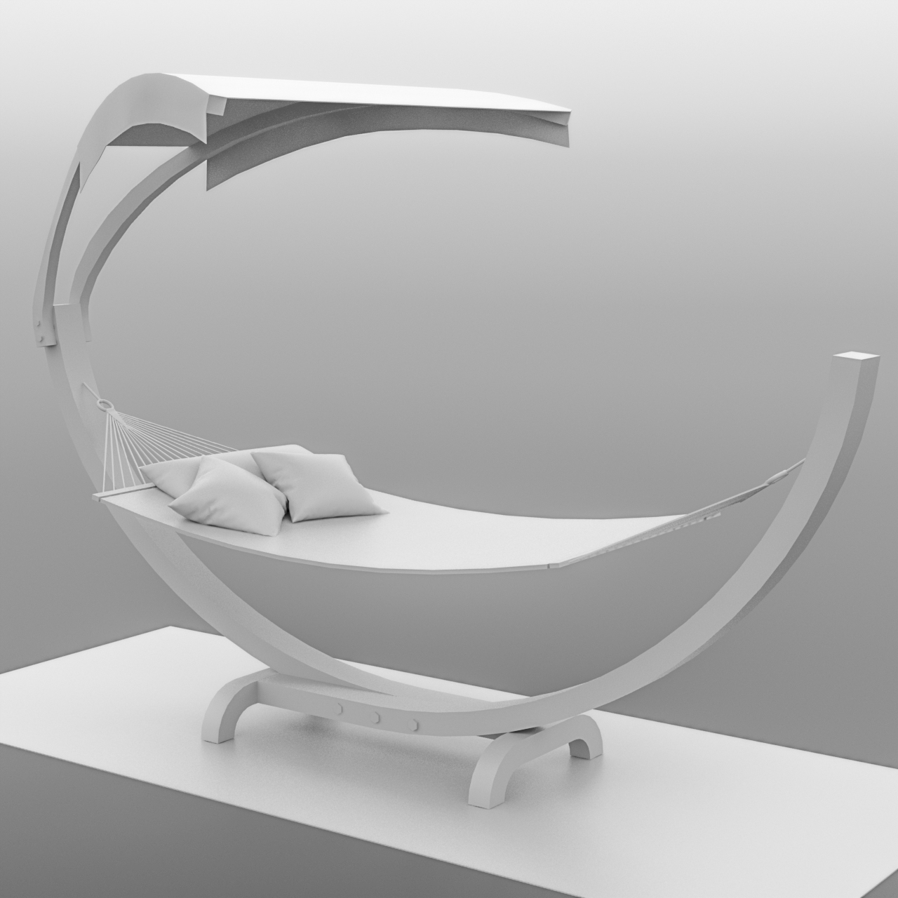 hammock for Second Life, work in progress, with no textures