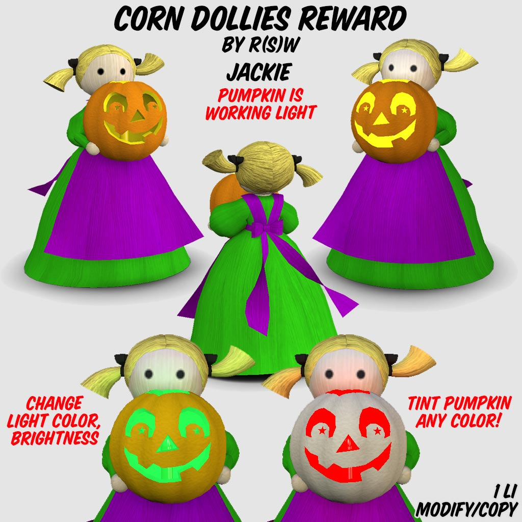 Corn Dollie Jackie, 25 play reward