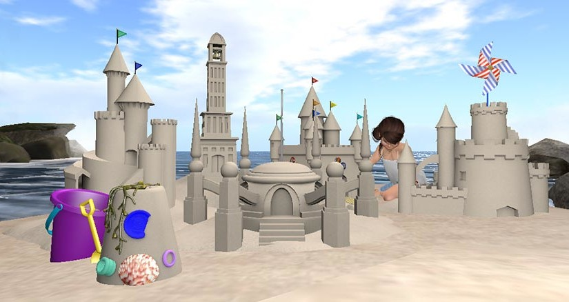 Sandcastles in Second Life