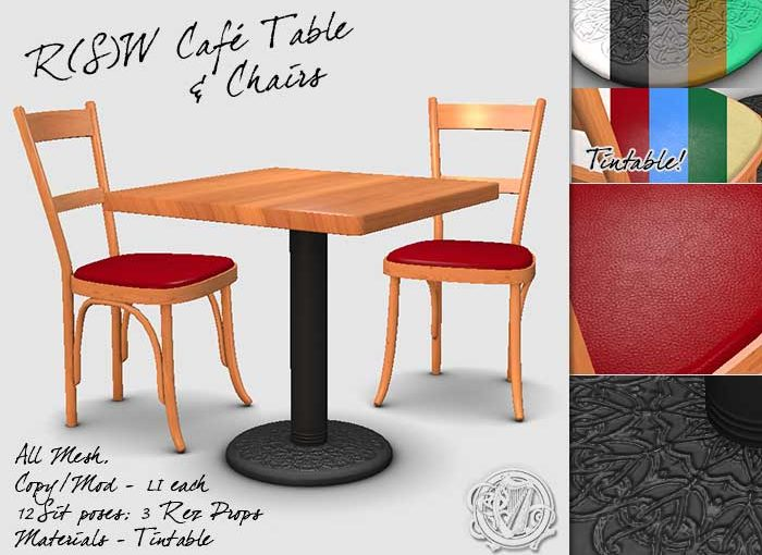 New Table and Chairs for SL
